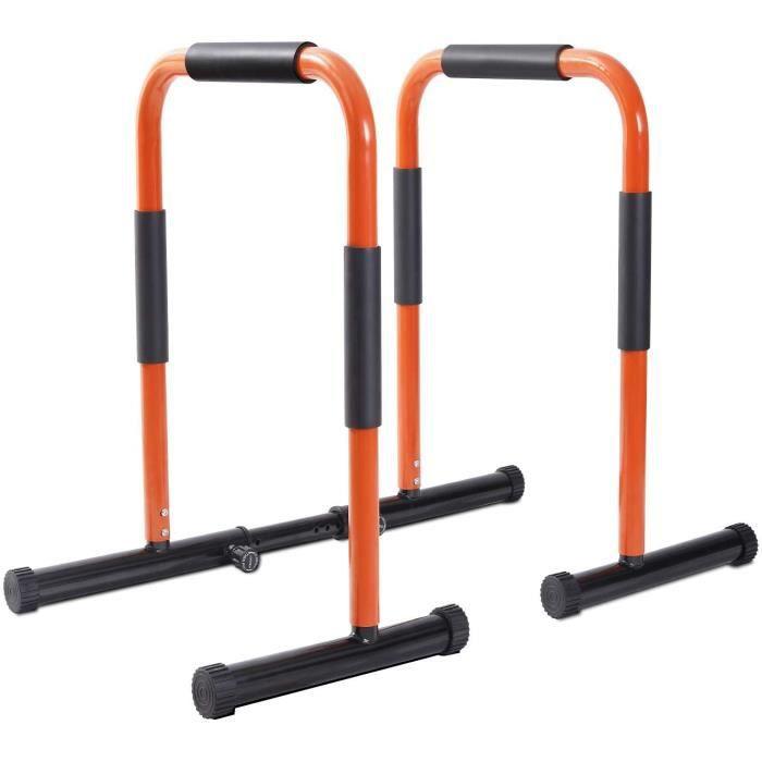 Barres parallèles de barre d'immersion pour l'entraînement à domicile avec une capacité de chargement de 500 lb