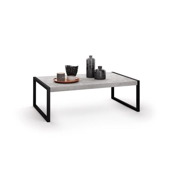 Mobili Fiver, Table basse, Luxury, Béton, Mélaminé/Fer, Made in Italy