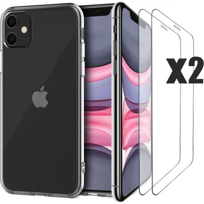 Bien Woshite Expédié Par CDiscount Pièces iPhone 11 6,1 '' Protecteur d'écran en Verre Trempé +1PC Coque iPhone 11 étuien