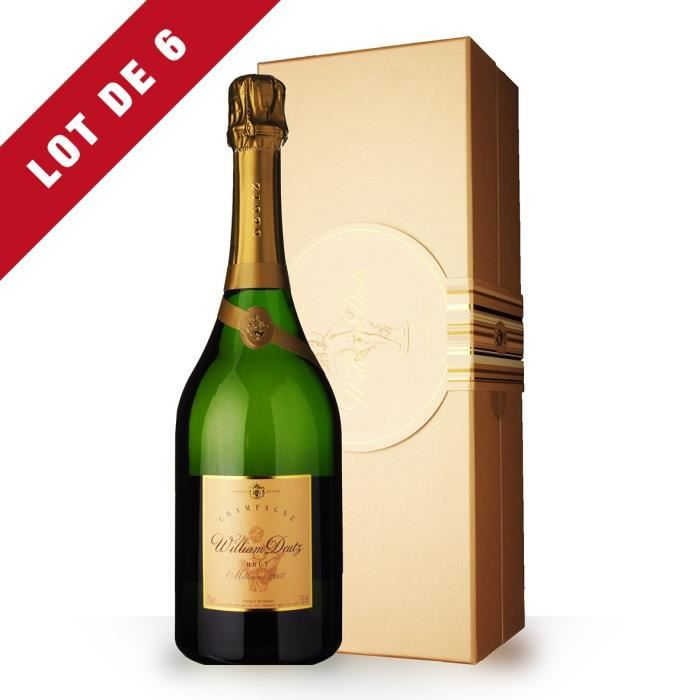 6x Deutz Cuvée William Deutz 2007 Brut - Coffret - 6x75cl - Champagne