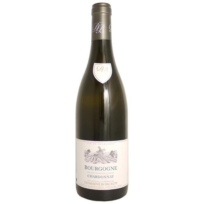 Bourgogne Chardonnay 2016 Domaine Borgeot -75 cl - Vin Blanc AOP de Bourgogne - Cépage Chardonnay