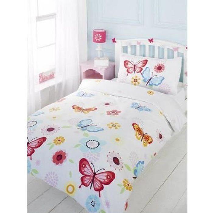 Parure de lit Papillons Chambre fille