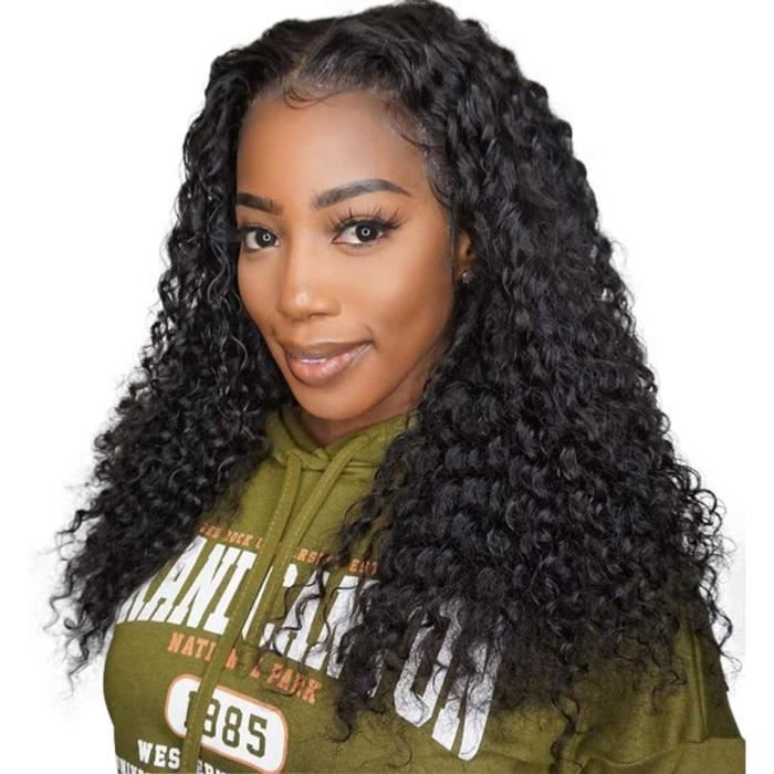 Perruque Bresilienne Lace Wig Jerry Kinky Curly Lace Frontal Wig Humain Hair Wig Perruque Vrais Cheveux Femme Natural Hairline Remy