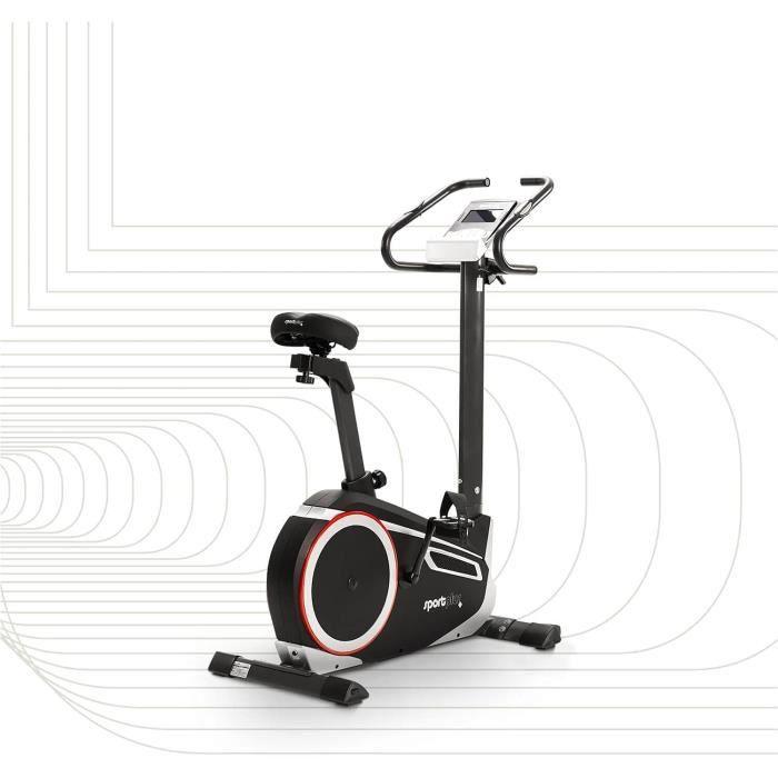 SportPlus - Vélo d'appartement - Ergomètre - Google Street View - Mesure puissance Watt - Roue d'inertie: 10 kg - 24 Niveaux de 37