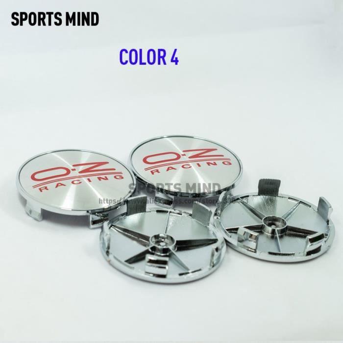 COLOR 4 -Centre de roue de voiture de course 68MM OZ, 4 pièces-lot, Logo, Logo, capuchon, capuchon, accessoires de style, 8 couleurs