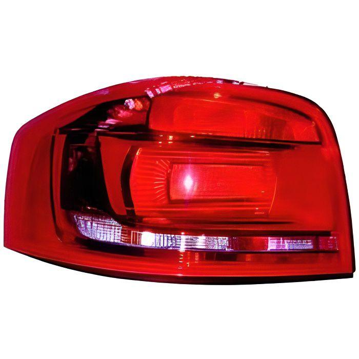 Feu arrière gauche pour AUDI A3 II ph.3 (3 portes) 2008-2012, (rouge), Neuf.