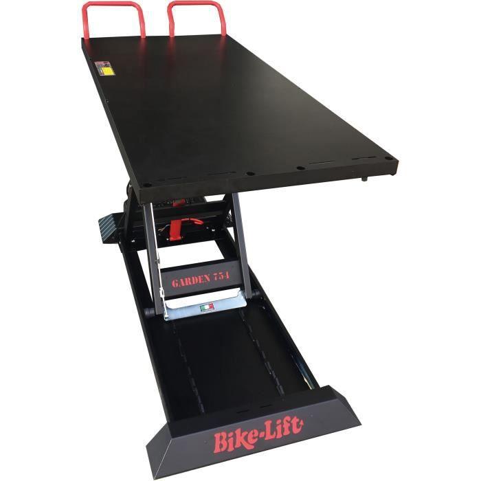 Table élévatrice professionnelle pour autoportées et tondeuses d'une capacité de charge de 750 Kg pour une hauteur max de 120 cm