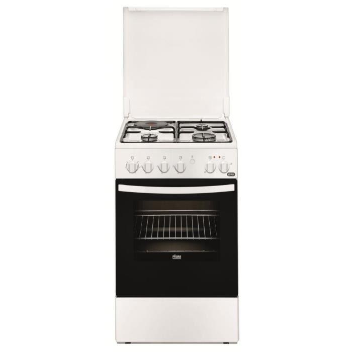FAURE CUISINIERE Mixte 50X60 3 foyers gaz thermocouplés + 1 plaque électrique -