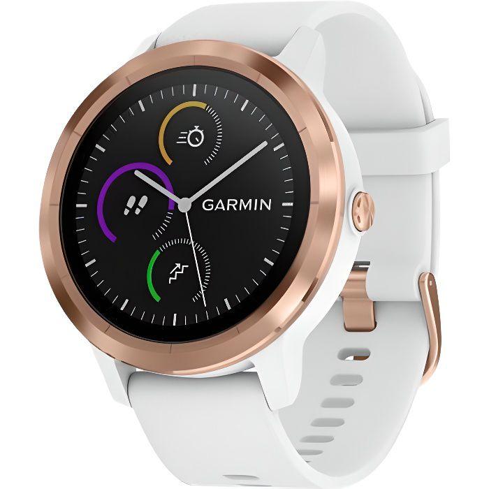 GARMIN Vivoactive 3 Montre connectée avec GPS et Cardio - Rose gold et Bracelet blanc