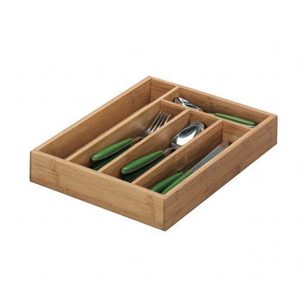 Rangement de couverts pour tiroir - bambou