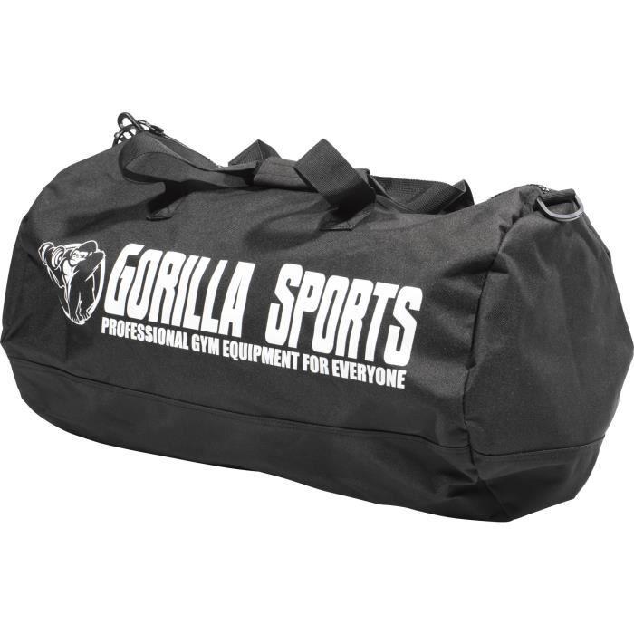 Sac de Sport noir unisexe pour adulte avec logo Gorilla Sports Noir