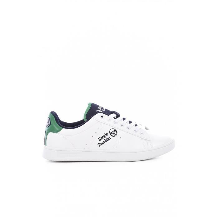 Sneakers basses simili cuir - Homme - Sergio tacchini - 02 White/green
