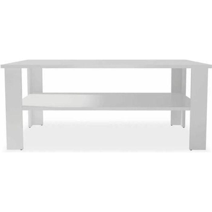 table basse blanche mat 100 cm