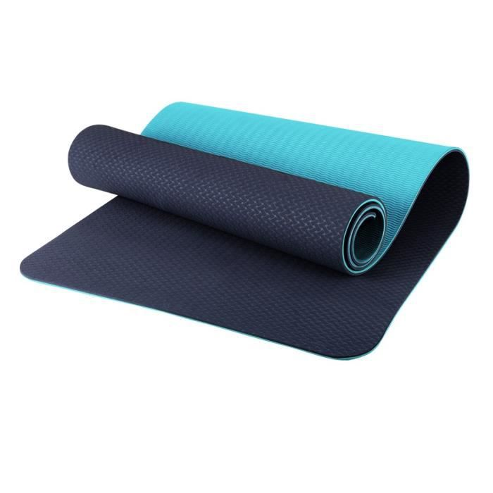 OneTwoFit Tapis de sol Tapis de sport Tapis de gym, Tapis de yoga Matelas de Gym Épais et Pliable 180 cm x 60 cm x 5 cm Noir OT170