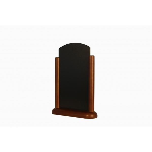 Porte-menu de table cadre bois arrondi coloris wenge 15*21cm