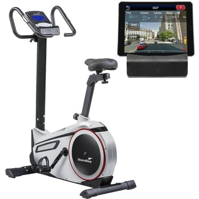 Skandika Morpheus - Vélo d'appartement ergomètre - Bluetooth - Max.120 kg - 24 Prog - 32 Niveaux de résistance
