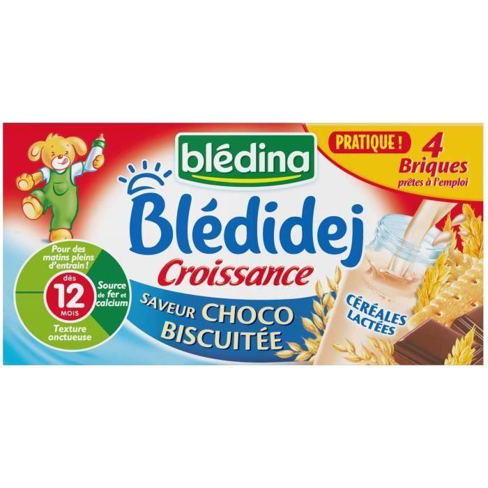 LAIT BÉBÉ BLEDINA Blédidéj Croissance Lait et Céréales Choco