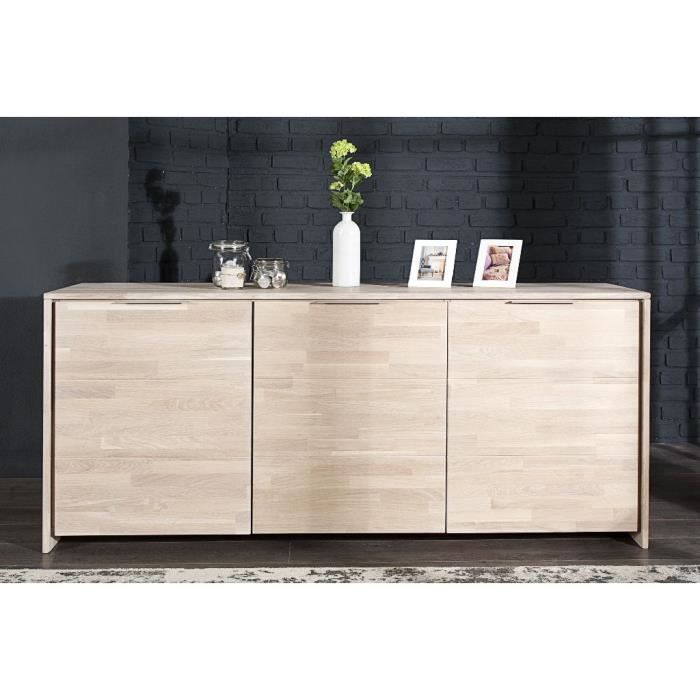 buffet en bois design loak bois clair achat vente buffet bahut buffet en bois design loak. Black Bedroom Furniture Sets. Home Design Ideas