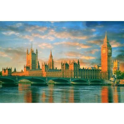 PUZZLE Puzzle 1000 pièces : Big Ben et le Parlement, L…