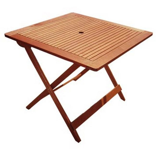 Table De Jardin Pliante Carr E En Teck Kussi 90cm Achat Vente Table De Jardin Table De