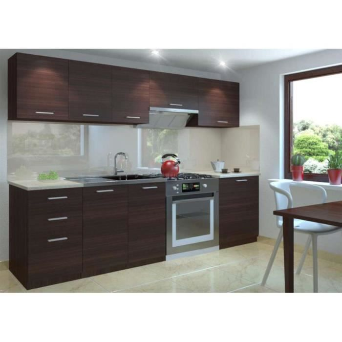 Justhome Economy Cuisine Equipee Complete 240 Cm Couleur