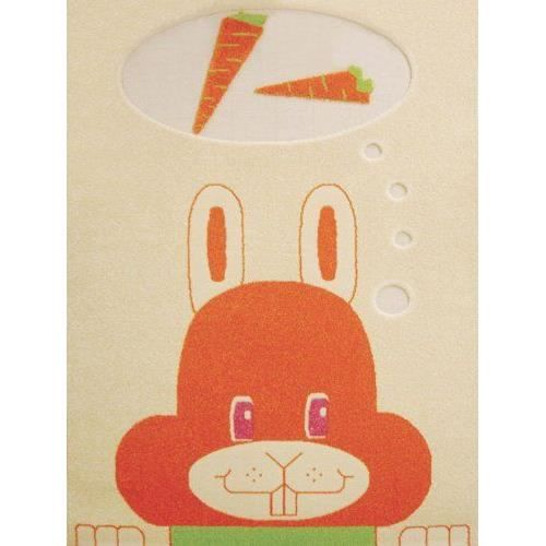 Little Helper Ivi Exclusive Tapis Hypoallerg Nique En Relief Motif Lapin Orange 80x150cm Achat