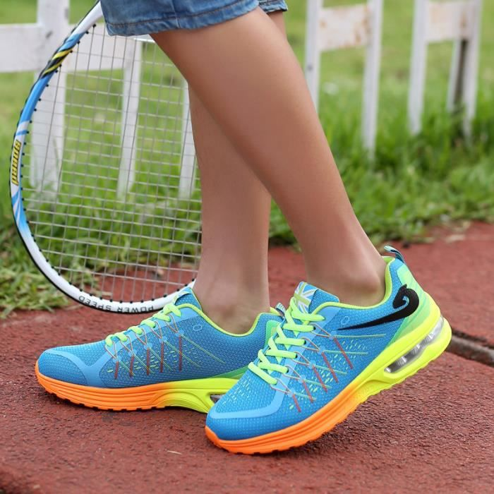 Mode Shock Absorption Courir Mesh surface respirant sport Casual Shoes Bleu