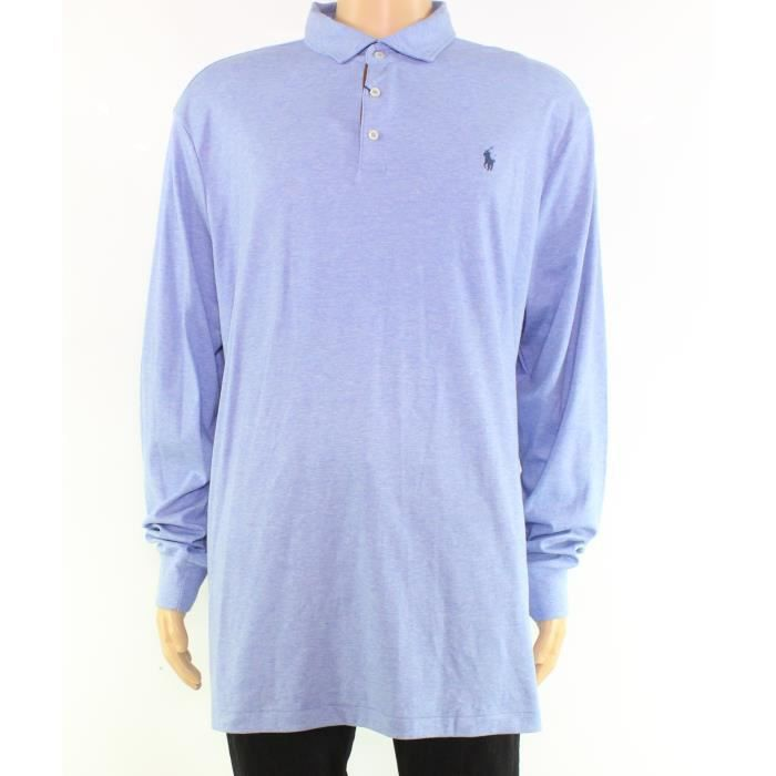 Soft Polo Men Classic Fit Heather 1d9g2v Nouveau Touch Xl M Blue Ralph Lauren Taille WYeD9EH2I