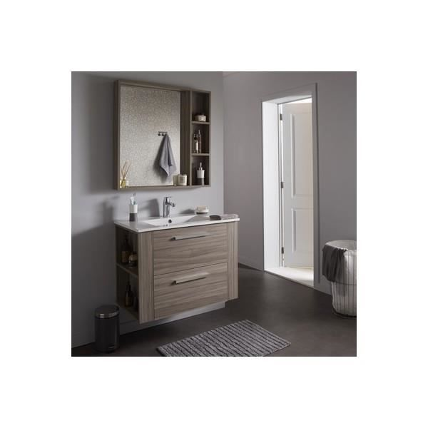ensemble meuble de salle de bain miroir couleur olme gris achat vente meuble vasque plan. Black Bedroom Furniture Sets. Home Design Ideas