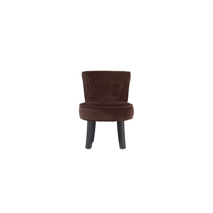 petit fauteuil crapaud marron lot de 2 achat vente fauteuil velours cdiscount. Black Bedroom Furniture Sets. Home Design Ideas