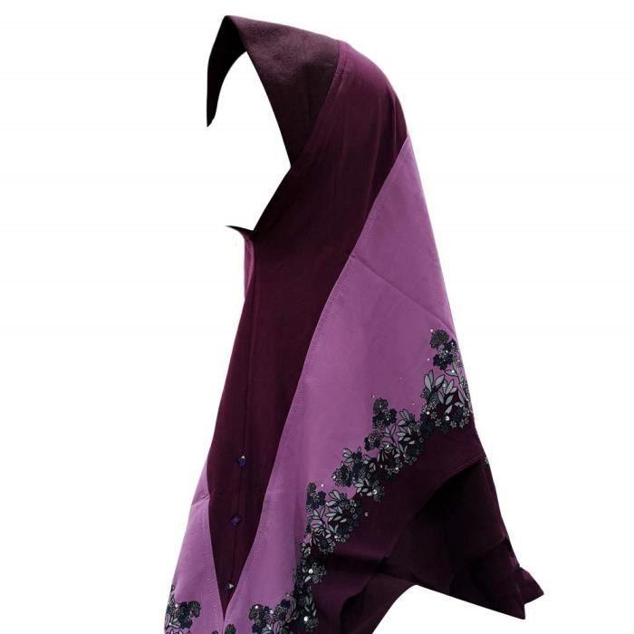 Les femmes voile islamique musulman Hijab Serviette de Plage floral châle foulard wrap écharpe
