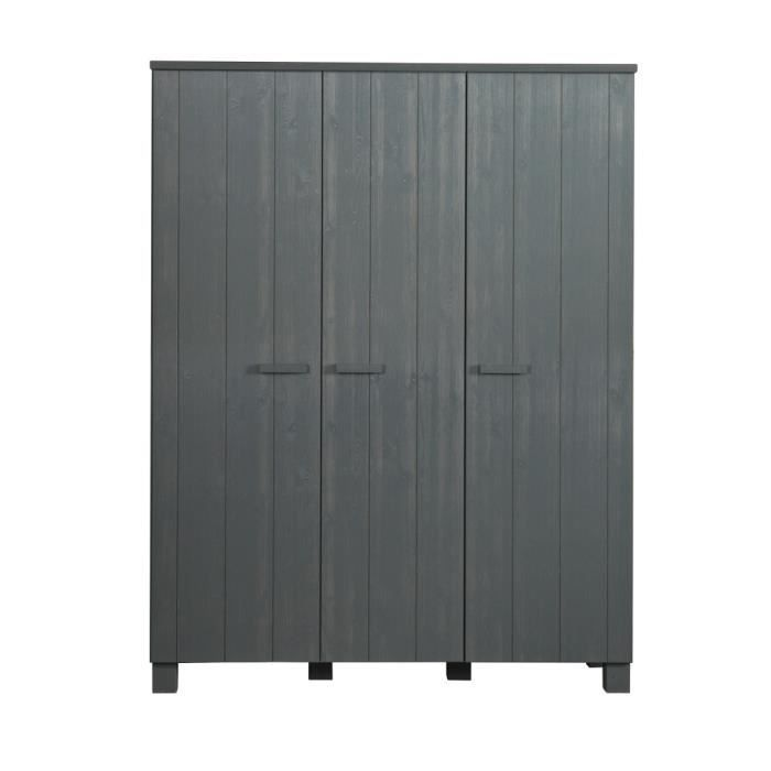 armoire pin 3 portes achat vente armoire pin 3 portes pas cher cdiscount. Black Bedroom Furniture Sets. Home Design Ideas