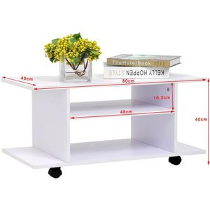 Petite table a roulettes achat vente petite table a for Meuble tv petite taille