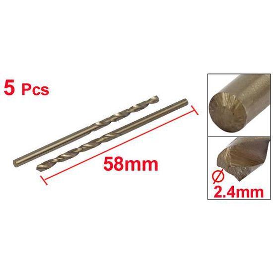 Point scission dia 2,9mm Cobalt HSS Foret hélicoïdal métrique 5pcs Outil perçage