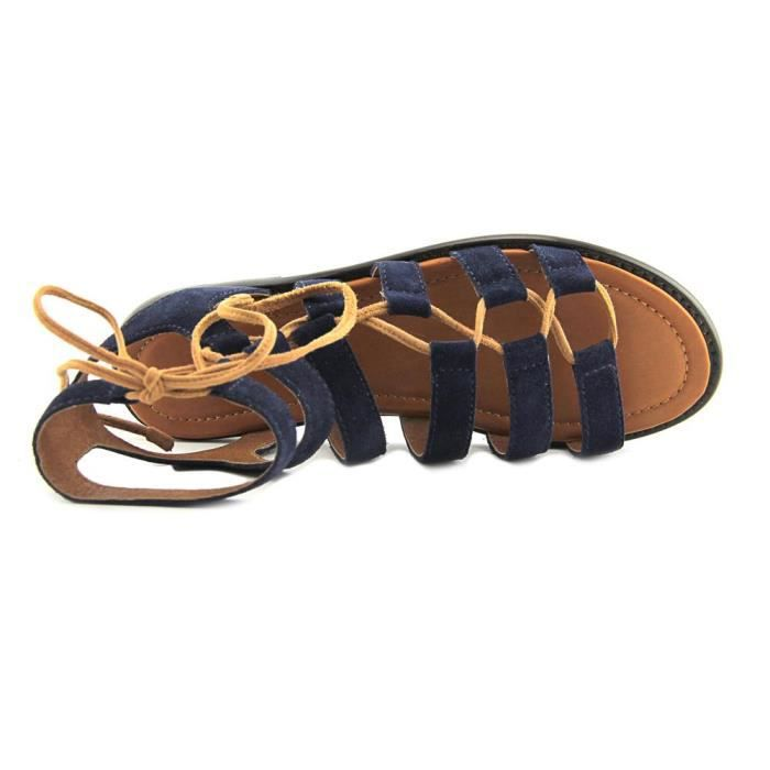 Frye Blair Side Ghillie Cuir Sandales Gladiateur