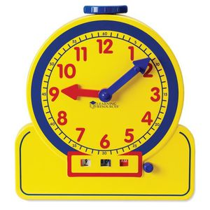 JEU D'APPRENTISSAGE Temps primaire enseignant de 12 heures d'horloge d