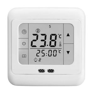 THERMOSTAT D'AMBIANCE BYC07.H3 16A Thermostat à Ecran Tactile Blanc