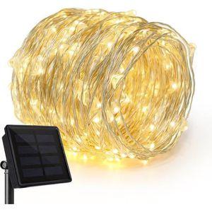 BALISE - BORNE SOLAIRE   guirlande lumineuse solaire 20m Extérieur, Jardin