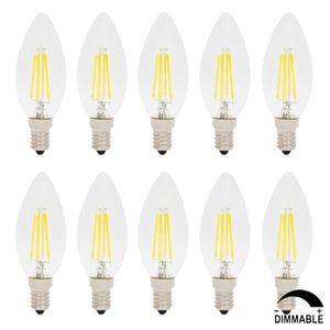 AMPOULE - LED 10X Ampoules LED Dimmable Filament E14 4W C35 Vint