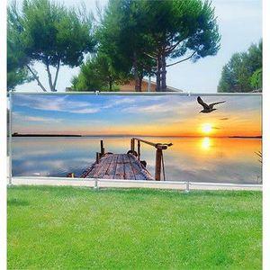 balcon ou terrasse Tag Graffiti 9104 Brise vue déco imprimé pour jardin