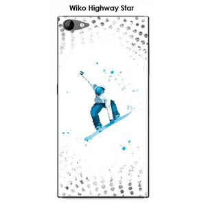 COQUE - BUMPER Coque Wiko Highway Star design Lost in the sky Whi