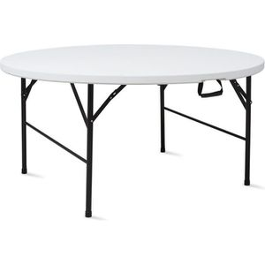 TABLE DE JARDIN  Table pliante ronde 180 cm portable