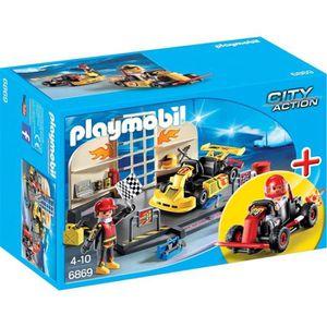 ACCESSOIRE DE FIGURINE PLAYMOBIL 6869 Starter Set Atelier de Karting