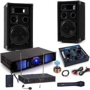 CHAINE HI-FI Chaîne hi-fi fête PA baffles 2400W amplificateur h