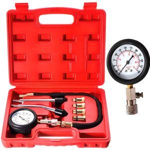 COMPRESSEUR AUTO Kit de 8 testeur de compression compressiomètre mo