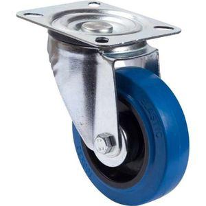 Jeu de 4 roulettes pivotantes avec frein 80 mm par 60 kg avec plaque de fixation et roulement /à roulettes.