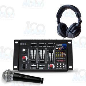 TABLE DE MIXAGE Table de mixage - 4 Voies 7 Canaux USB-MP3 + Casqu
