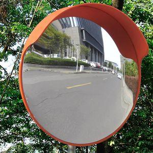 MIROIR DE SÉCURITÉ Miroir convexe d'extérieur orange en plastique 45
