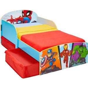 STRUCTURE DE LIT MARVEL Super-héros - Lit pour enfants avec espace