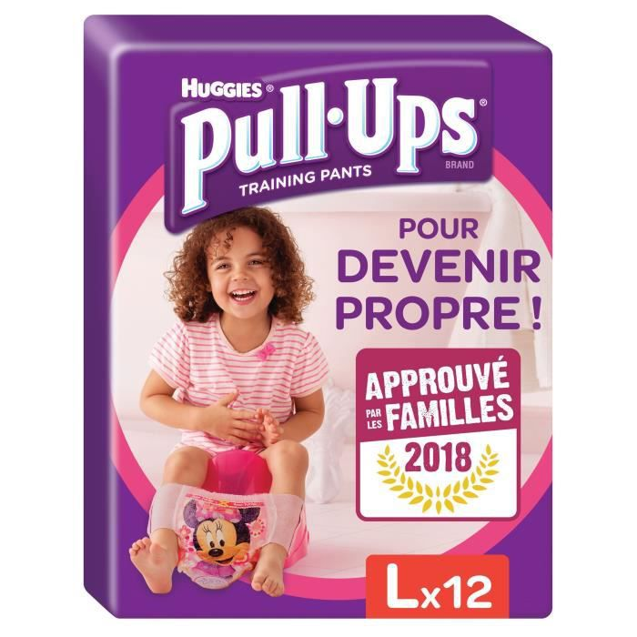 HUGGIES Pull-ups Culottes d'apprentissage Taille 6 - 16-23 kg - x12 - Fille